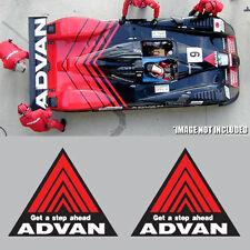 2x Advan Racing Decal Sticker Black Red Aufkleber Autocollant Jdm Drift Rally