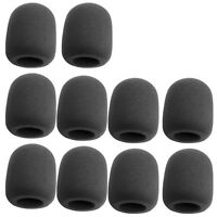 10Pcs Black Handheld Stage Microphone Windscreen Foam Mic Cover Karaoke DJ Sales