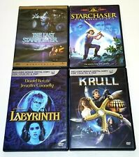 The Last Starfighter, Starchaser, Labyrinth & Krull DVD 1980s Sci-Fi Lot