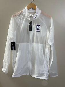 Nike Korea Academy Lightweight Jacket Soccer White Blue Mens XL CQ9255-100 NEW