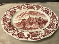 """Enoch Wedgwood Royal Homes Of Britain Red 12"""" oval serving platter"""