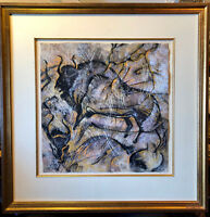 """""""Dream of the Hunt""""- Original Pastel Paining by Cecilia Henle, Bison Buffalo"""
