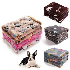 3 Packs Super Soft Fluffy Pet Blanket Paw Foot Print Warm Flannel Throw Fleece