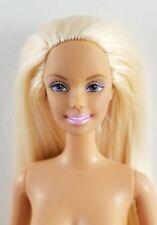 Nude Barbie Doll Scene Spot Frosty Pink Lips Blonde Hair Painted Underwear