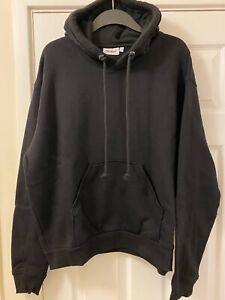 WEEKDAY 'AILIN' Oversized Black Hooded Sweatshirt Hoodie Size Small