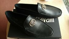 Roberto Cavalli Men's Black Leather Loafers Slip On Shoes size - Euro-45  US-11