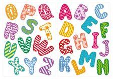 Wandtattoo Alphabet mit bunten Mustern 26 Buchstaben Kinderzimmer