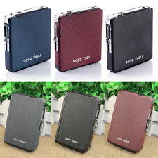 Cigarette Case & Lighter Automatic Ejection Butane Windproof Box Holder Gift