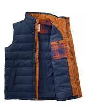 Men's Jacket Timberland MT Davis Waxed Down Vest Style A1CAD. Size: L *NEW* Navy