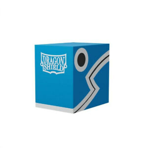 Blue-Black Double Shell Deck Box 100+ Case Dragon Shield NEW