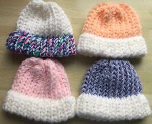 Seamfree Premature Baby hat, or fits upto 18 inch  dolls £2.45 + 50p p&p