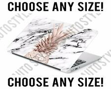 White Marble Rose Gold Pineapple Laptop Skin Decal Sticker Tablet Vinyl Cover