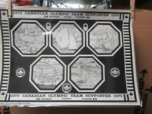 1976 Canadian Olympic Team Supporter Poster        ptr