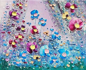 Mystic Meadow Flowers in Love, an original oil painting on canvas, by Phil Broad
