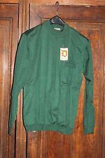 Antiguo y nueve Vintage Suéter de hombre Verde El Dunois Radio Prouvost Masurel