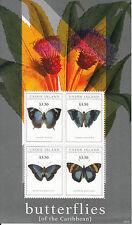 Union Island Grenadines St Vincent 2011 MNH Butterflies of Carribean 4v Sheet II