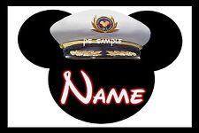 4x6 Disney Cruise Stateroom Door Magnet - CAPTAIN MICKEY - PERSONALIZED