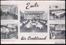 NYC NY Emil's Restaurant Bar Lounge Vt Park Row City PC Postcard