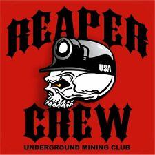 "3 - Reaper Crew Hard Hat Stickers Designed by Earl Ferguson ""Sons of Coal"" H568"