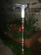 LED lighted walking cane acrylic lucite elegant designer changeable roses