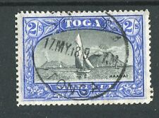 Tonga QV 1897 2s black & ultramarine SG51a fine used