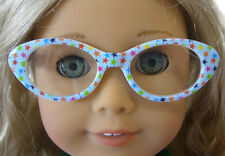 "Blue Star Eyeglasses fits 18"" American Girl Accessory Doll Clothes Sew Beautiful"