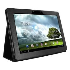 PU LEATHER CASE COVER WITH STAND FOR ASUS EEE PAD TRANSFORMER PRIME TF201 BLACK