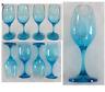 Blue Wine Glasses 12 oz Cristar Set of 4  NEW