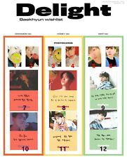 EXO BAEKHYUN Delight solo Album Original Authentic Photocard set KPOP free shipp