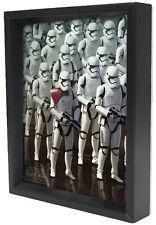 STAR WARS-THE FORCE AWAKENS-STORM ARMY 8x10 3D SHADOWBOX SPACE FILM LUKE MOVIE!!