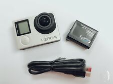 Used GoPro HERO 4 silver Edition Action 4K Camera w/ LCD screen Wi-Fi Great USA