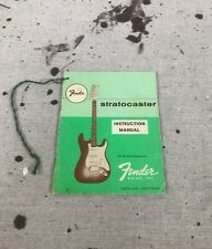 Vintage Fender Stratocaster Manual-Hang Tag 1961-1962-1963 Pre CBS Case Candy