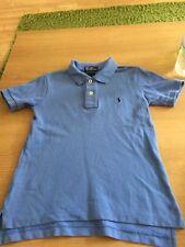 CC72 Polo Ralph Lauren Boys Age 6 Blue Cotton Polo Top Vgc