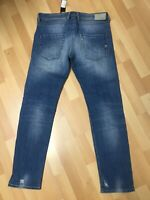 NWT Mens Diesel BELTHER SRETCHED PATCH Denim 084GI BLUE Slim W34 L32 H7 RRP£180
