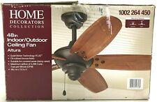 """Home Decorators 48"""" Ceiling Fan Altura Indoor/Outdoor Oil Rubbed Bronze 51748"""