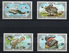 Birds on Stamps - Mongolia 1986 Pelicans