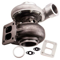 GT45 TURBOCHARGER 600+HP BOOST UNIVERSAL T4 T66 V-BAND A/R 1.05 .66 Oil Cooled