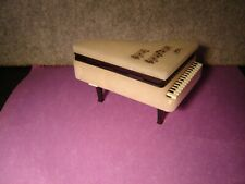 """5"""" x 3"""" Vintage Grand Piano White Marble Box Trinkets Jewelry Italy"""