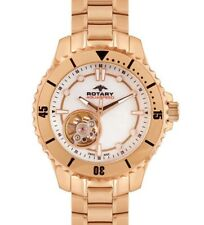 Rotary Aquaspeed Women's Swiss Made Automatic ALB90073-A-41 Rose Gold Watch