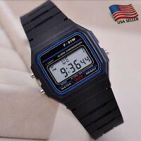 USA Durable F91w Classic Digital Retro Sports Stopwatch Wrist Watch With Resin