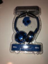 SKULLCANDY LOWRIDER HEADPHONES-BLUE METAL