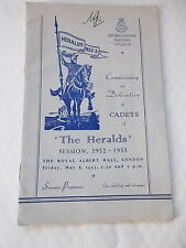 Commissioing & Dedication Of Cadets of THE HERALDS Session 1952-3 Programme