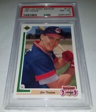 1991 Upper Deck #17F Jim Thome Rookie Card RC Graded PSA 8 NM-MT Final Edition