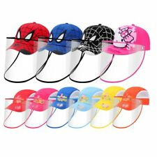 More Colors Protective Face Shield Kids Protect Baseball Cap Hat Adjustable