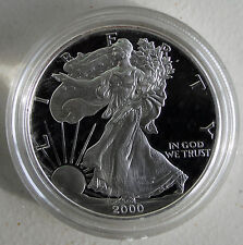 2000 AMERICAN SILVER EAGLE PROOF DOLLAR US Mint ASE Coin ONLY Silver $1 ASE