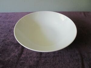 "Mikasa Sophisticate 9"" Round Vegetable SERVING BOWL White Mid Cent Modern Japan"