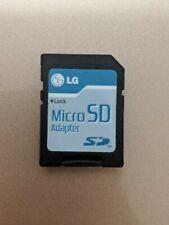 Lg MicroSd Adapter with 2Gb microSd card