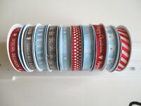 1 reel Dovecraft Modern & Bright Christmas Grosgrain Ribbon - choice of design