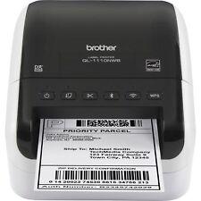 Brother Label Printer Wireless Wide-format Thermal 300 dpi WE/BK QL1110NWB