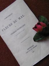 BAUDELAIRE : COMPLEMENT AUX  FLEURS DU MAL ..1869